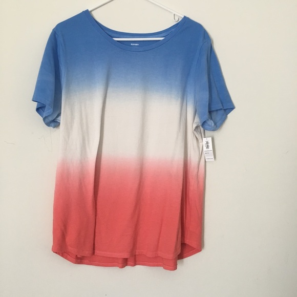 2653aa93952ee8 women s july 4th ombré red white blue short sleeve